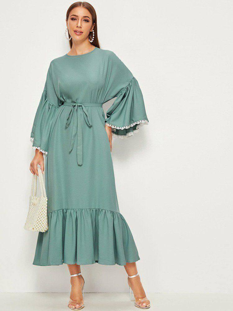 Solde SHEIN Robe en satin avec imprimé 2020/2021