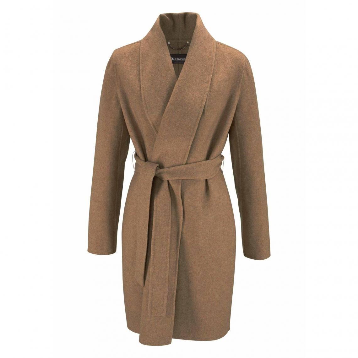 Promotion Shein Manteau col cascade avec cordon 2021 au Maroc