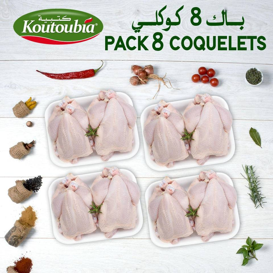 Promos Koutoubia Maroc Pack 8 Coquelets